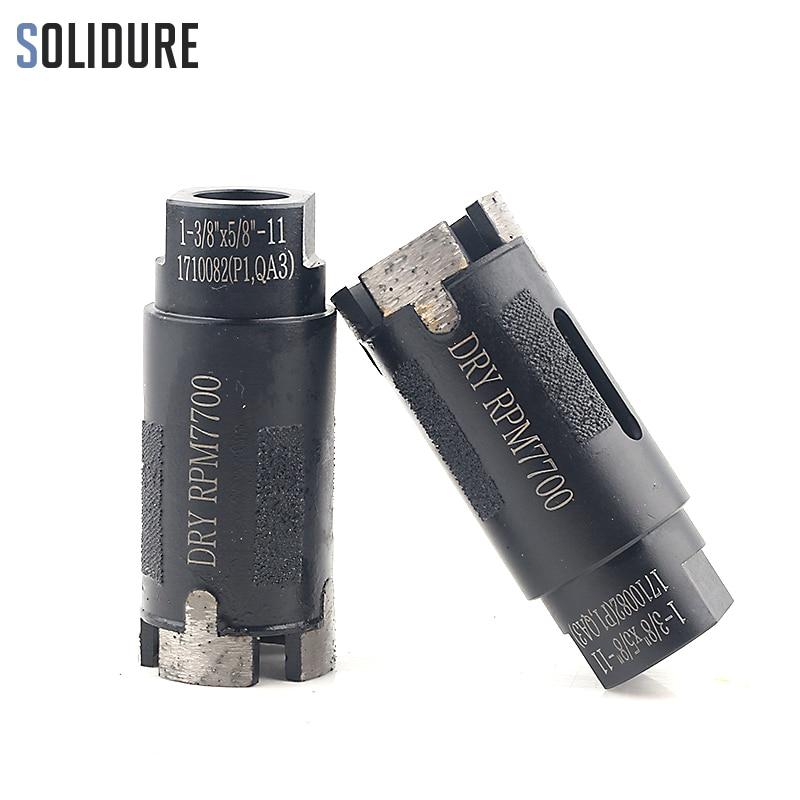 2pcs/set 1-3/8 35mm arbor 5/8-11 Vacuum Brazed protection diamond core bit for dry drilling stone,tile and concrete переходник belkin mini displayport hdmi f2cd079bt