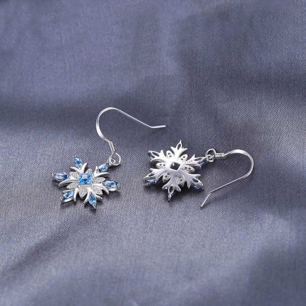SmykkerPalace Snefnug 1.4ct Ægte schweiziske blå Topaz dangle - Smykker - Foto 4