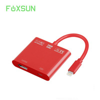 1080P 8 pin for Lightning to HDMI Female Video Adapter for Lightning Charging Cable,for Lightning Digital AV Adapter for iPhone