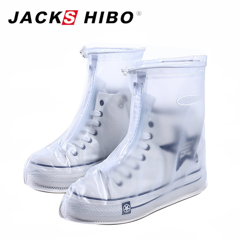 JACKSHIBO Reusable Waterproof Overshoes Shoe Covers Shoes Protector Men&Womens&Children Rain Cover for Shoes Accessories