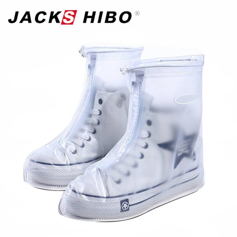 Jackshibo reutilizable impermeable sobre Zapatos Fundas de zapatos Zapatos protector hombres y mujeres y niños lluvia cubierta para Zapatos Accesorios