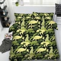 Dinosaur Bedding set bed linen Kid for Children duvet cover bed in a bag sheet bedspread Super King Queen size full twin 4PCS