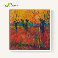 Willows Under the Setting Sun Van Gogh Oil Painting Reproductions Handmade Wall Pictures For Living Room Wall Decor Art Unframed
