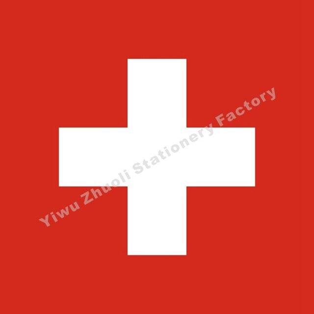 Флаг Швейцарии 120X120 см (4x4FT) 120g полиэстер 100D двойные сшитые Высокое качество Баннер БЕСПЛАТНАЯ ДОСТАВКА