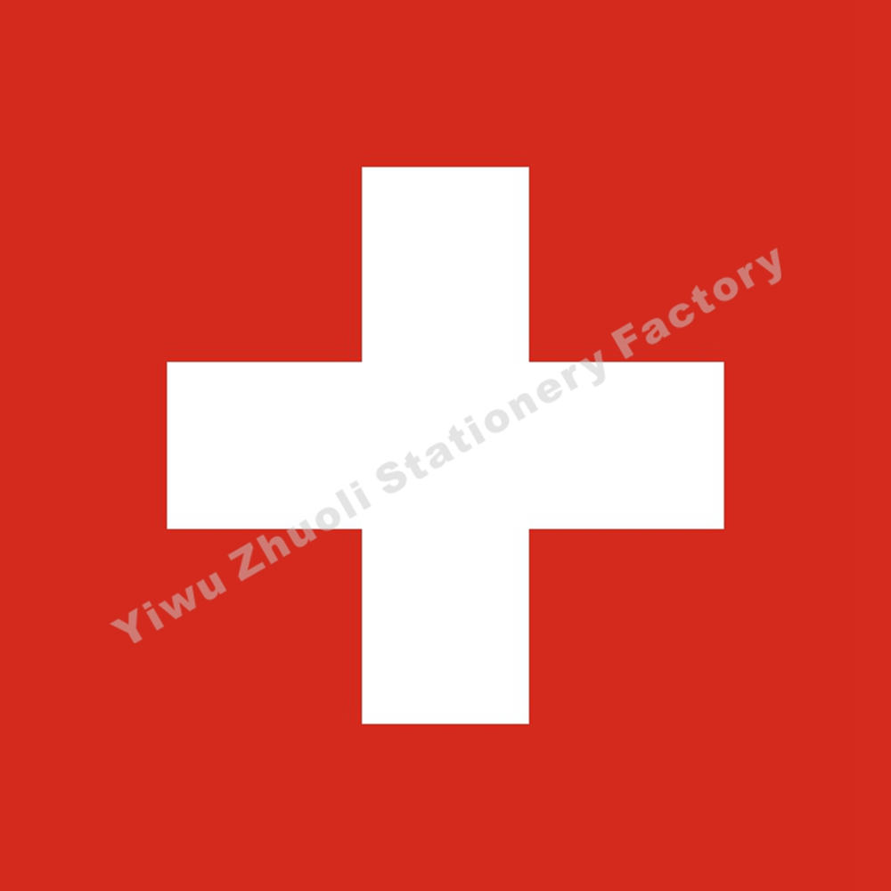 Switzerland Flag 120X120cm (4x4FT) 120g 100D Polyester Double Stitched High Quality Banner Free Shipping(China)