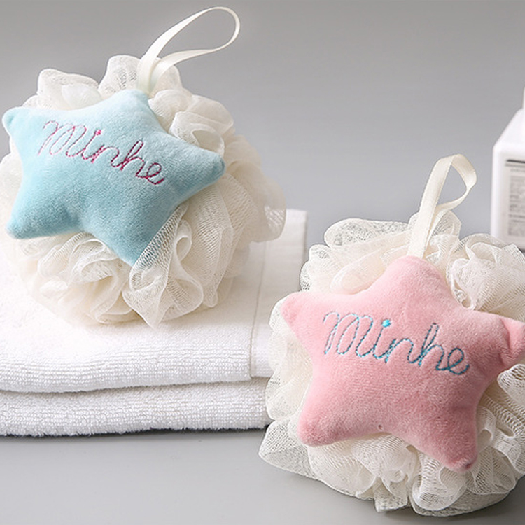 New Soft Plush Star Bath Ball Sponge Puff Body Shampoo Lotion Wash Clean Froth Beauty Tools Shower Room Household
