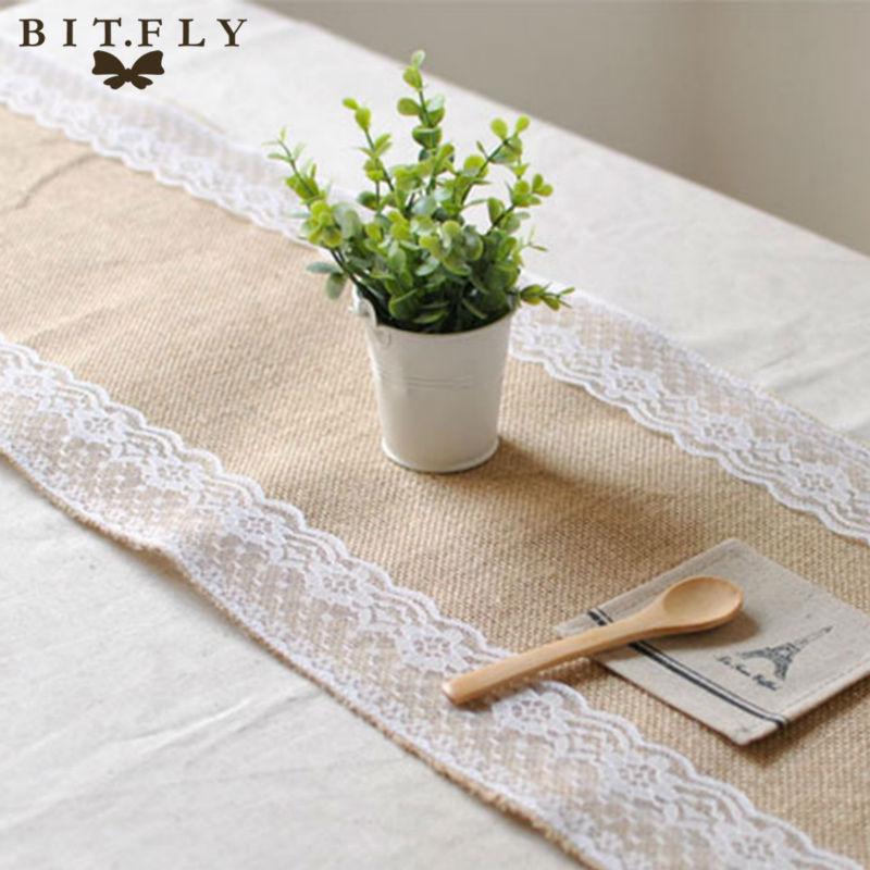 achetez en gros toile de jute chemin de table de mariage. Black Bedroom Furniture Sets. Home Design Ideas