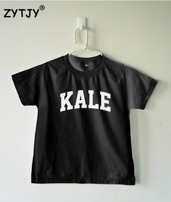 KALE Letters Print Kids tshirt Boy Girl shirt Children Toddler Clothes Funny Top Tees Z-35