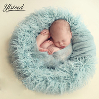 80 100cm 10 Colors Newborn Photography Props Faux Fur Blanket Baby Blankets Newborn Basket Filler Stuffer