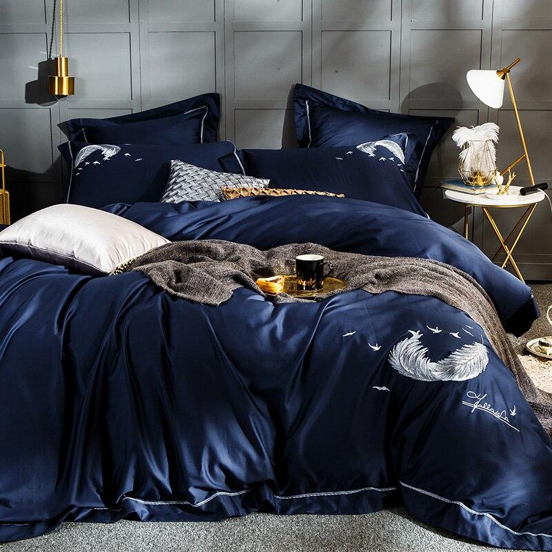 2018 100% cotton classic european style  luxury  Bedding Set .Duvet Cover Bed sheet Bed Linen Pillowcases.  Peacock Blue2018 100% cotton classic european style  luxury  Bedding Set .Duvet Cover Bed sheet Bed Linen Pillowcases.  Peacock Blue