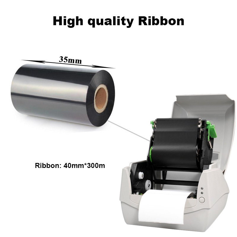 Image 3 - Thermal transfer label printer washing label printing solution with paper holder ribbon and silk clothes label easy for printinglabel printerthermal transfer label printerlabel printer thermal -