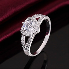 New Charm Cute Crystal CZ Silver Ring Fashion Jewelry For Women