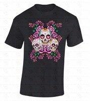 Youth Round Collar Customized T Shirts Gildan Men S Crew Neck Short Sleeve Compression Sugar Skulls