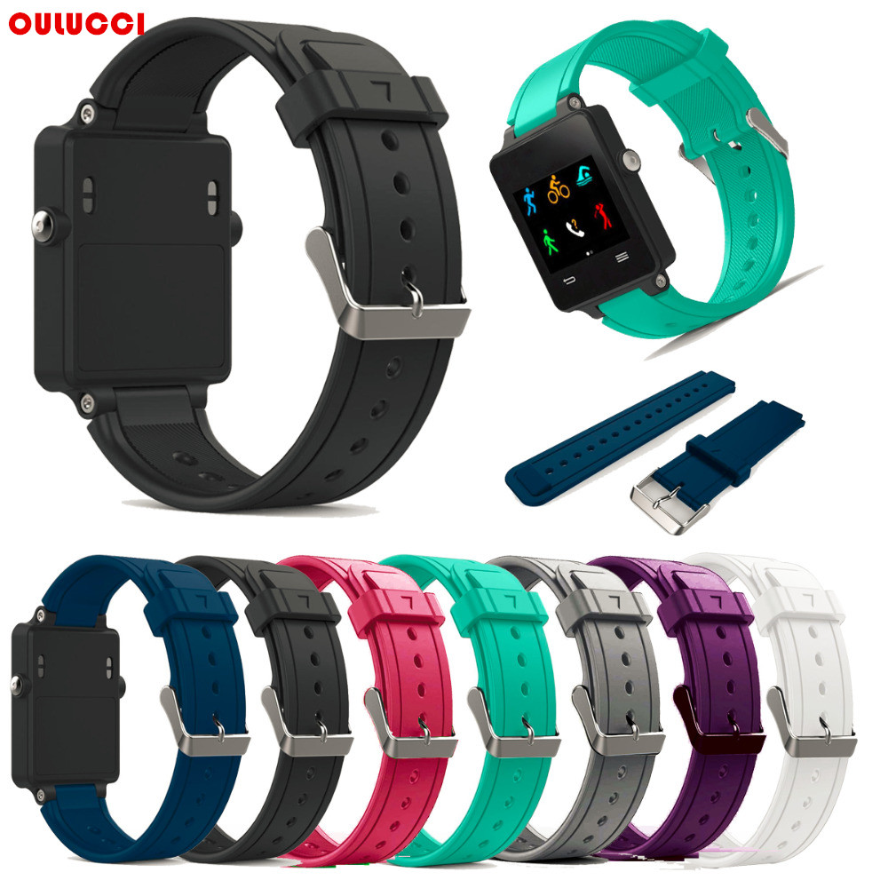 Replacement Band For Garmin Vivoactive Silicone Replacement Fitness Bands Wristbands With Metal Clasps For  Vivoactive GPS Watch