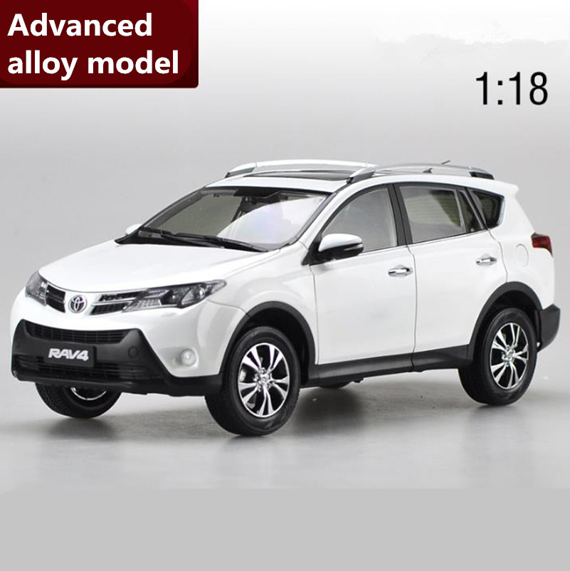High simulation RAV4 TOYOTA SUV,Original Advanced collection model1:18 alloy car toy,diecast metal model vehicle,free shipping beijing jeep bj2020 suv original simulation alloy car model military vehicle armygreen 4 color limit collection kids toy gift