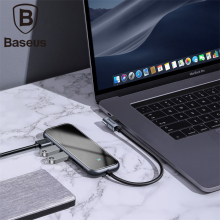 Baseus Multi USB C 3.0 Hub with 3 Usb ports TF+SD Card Type to HD4K for Macbook Pro 3.5mm Audio Jack