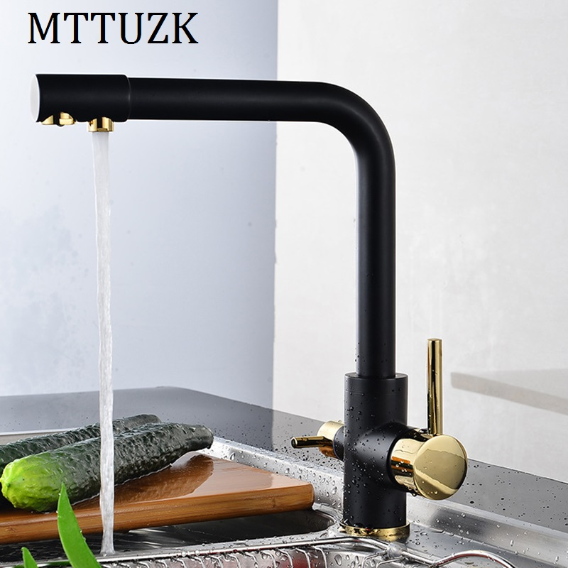 цена на MTTUZK Multifunctional Kitchen Hot Cold Water Kitchen Faucet Pure Water Faucet Drinking Water Mixer Tap 3 Way Tap white/ black