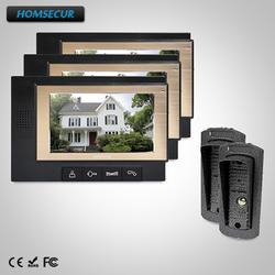 """HOMSECUR 7 """"Видеодомофон Система Интрекома Электрический замок поддерживается : TC041 + TM702-B"""