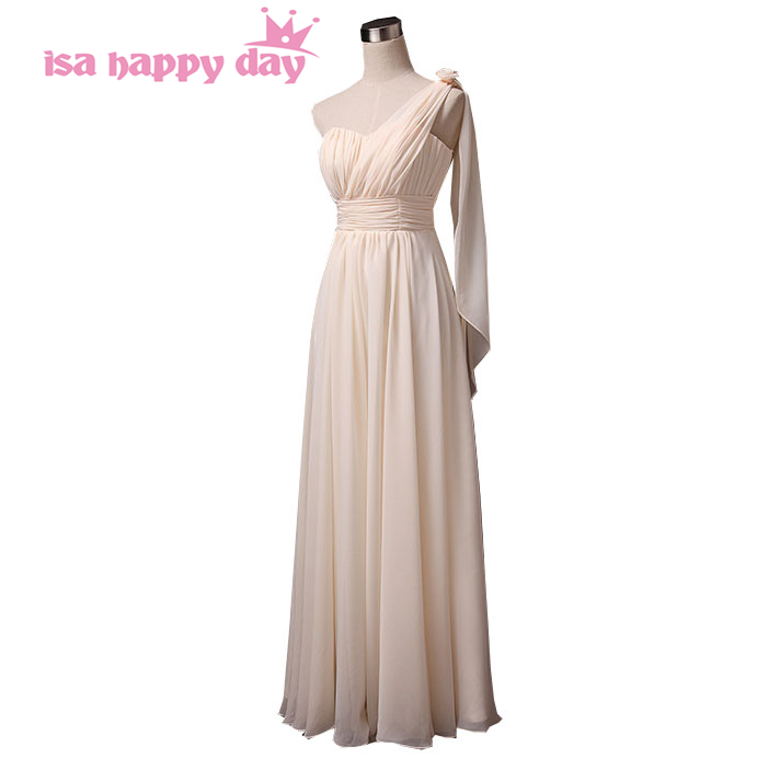 long chiffon greek style country style champagne goddess   bridesmaid     dresses   2019 cheap formal long   dress   from china H2743