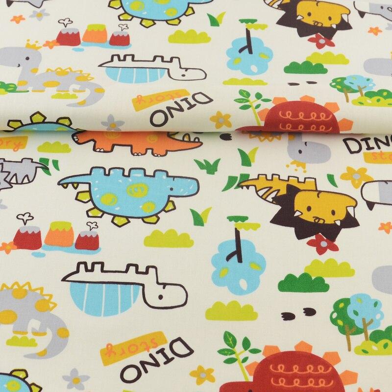Textil Hogar 100% Algodón Tela Animales de Dibujos Animados Diseños de Costura