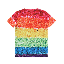 New Summer Designer Funny 3D Rainbow Printed Female T Shirt Women/Men Unisex O-neck Short Sleeve personality T-Shirt Tops tee