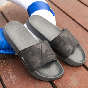 Image 5 - Merk Kwaliteit Slippers Mannen Badkamer Schoenen Platte Slippers Licht Outdoor Strand Sandalen Schoenen Big Size 50 Dark Camouflage Oppervlak