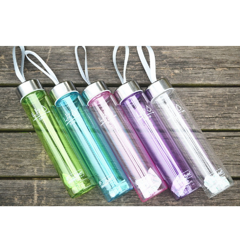 Outdoor Sports Drinking Water plastic Summer 280ML Transparent Portable Bike Sports camping