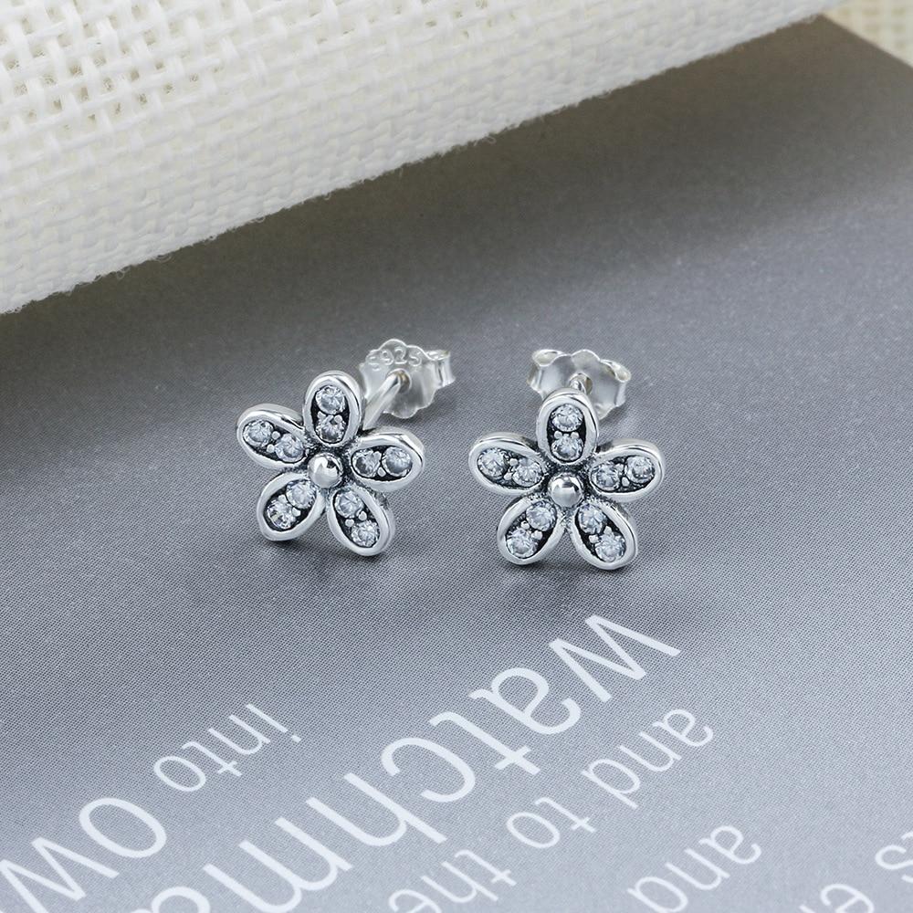 цена на FSC1 women fine jewelry,beautiful small flower ear stud,925 sterling silver earling as gift for graceful lady