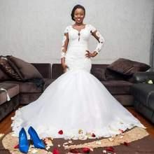 SIJANEWEDDING SIJANE Sexy Mermaid Wedding Dress Sleeveless