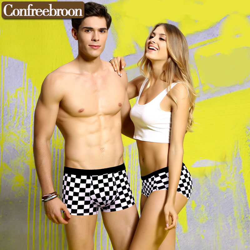 540acdeb67 Environmental Dyeing Couple Underwear Set Fashion personality stamp cartoon  underpants brand quality underwear suit pants 6136-in Boxers from Underwear  ...