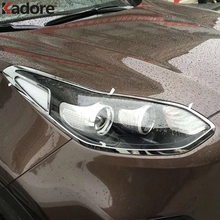 Chrome Accessories For KIA Sportage 2016 2017 Headlight Cover Head Lamps Light Trim Overlays Exterior Decorative Car Covers
