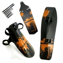 цена на FETESNICE Cycling MTB Mountain Bike Road Bicycle Front Rear Mudguard Fender and Front Clip-on Bicycle Down Tube Fender Set