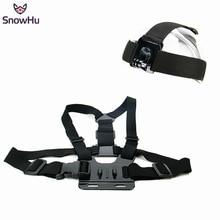 SnowHu For Gopro Accessories Head Strap Chest Harness Mount For Go pro Hero 7 6 5 3+ 4 SJ4000 xiaomi yi 4K SJCAM GP59 цена и фото
