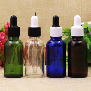10/30PCS 30ml Clear/Green/Blue/Amber Glass Dropper Bottle,Empty 30 ml Essential Oil  Glass Bottles With Glass Dropper Wholesale 5ml10ml15ml20ml30ml50ml100ml empty cosmetic dropper bottle blue essential oil containers glass pipettes essence package