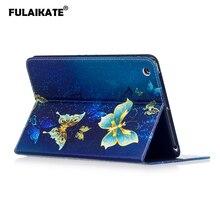 FULAIKATE Color TPU Flip Case for iPad Mini 3 Soft Stand Cartoon Back Cover mini 1 2 Protective Funda Skin with Card Pocket