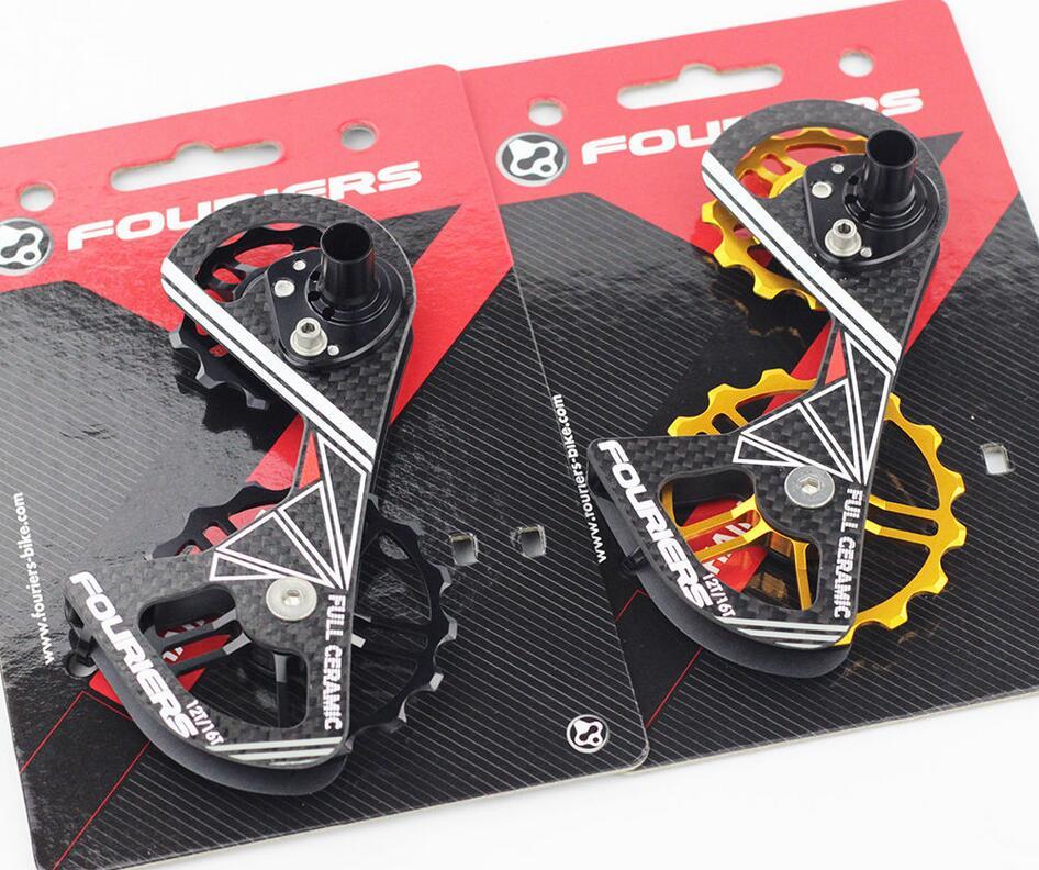 FOURIERS 12 T-16 T complet en céramique roulement jockey roues route vélo arrière dérailleur poulies utiliser FD-6800/6870/9000/9070