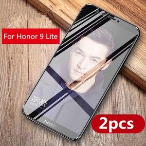 Image 2 - 2 sztuk/partia pełne szkło hartowane dla huawei honor 9 Lite honor 10 folia na wyświetlacz 9 H Blu ray szkło dla huawei honor 9 lite