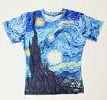 Brand New Мужские Лето Топы Тис Звездная Ночь Винсент ван Гог Майка Плюс Размер 3D футболки Одежда