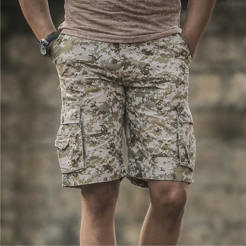 Fitness Shorts Limited Wave Free Shipping 2018 New Brand Summer Mens Leisure Cotton Camouflage Cargo Shorts Casual Men Short