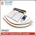 2pcs 433MHz TTL Interface 100mW Industrial RF module SV612+2pcsRubber antenna + 1pcs USB bridge board