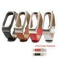 For Xiaomi Mi Band 2 Leather Strap Wrist Band For Mi band 2 Screwless Bracelet for Miband 2 For mi 2 wristband Smart Accessory