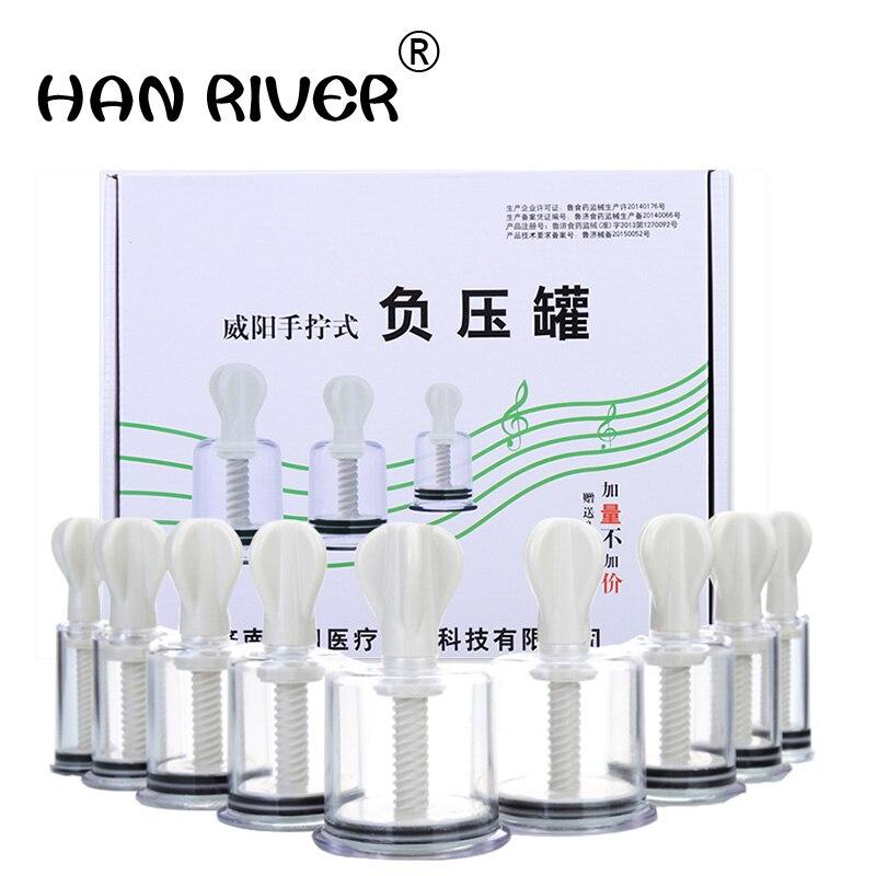 Ручной вращающийся цилиндр аппарат дома 9 банки вакуумные банки всасывания типа