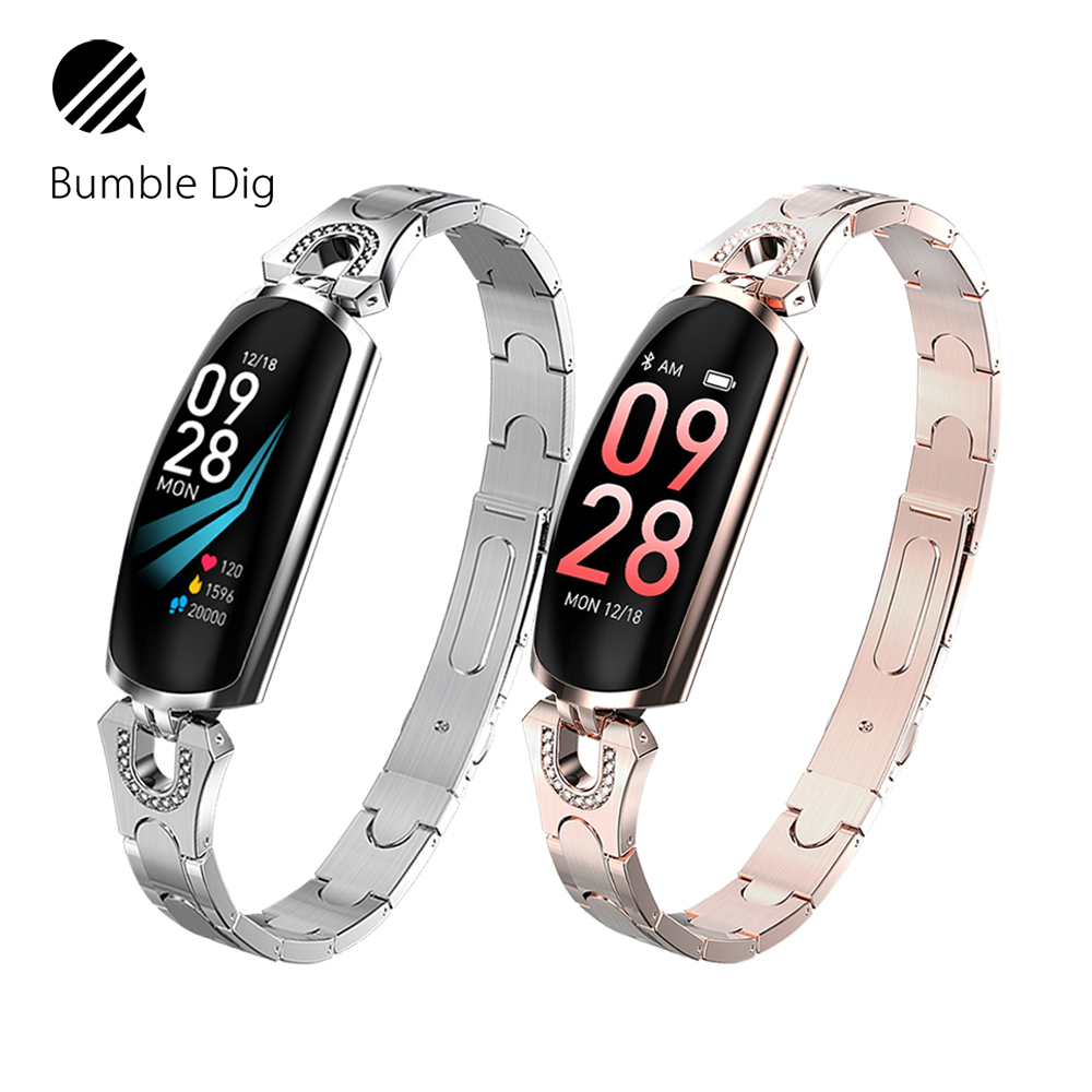 Women Lady Fashion Smart Watch Heart Rate Monitoring Bluetooth For Android IOS Smart Bracelet Fitness Tracker