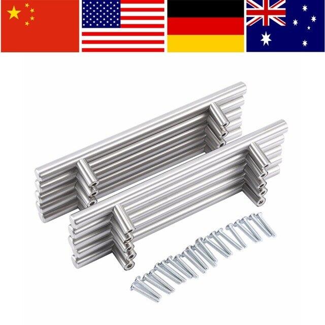 20 pz moderna maniglie per mobili da cucina cabinet t tira maniglie manopole in acciaio inox