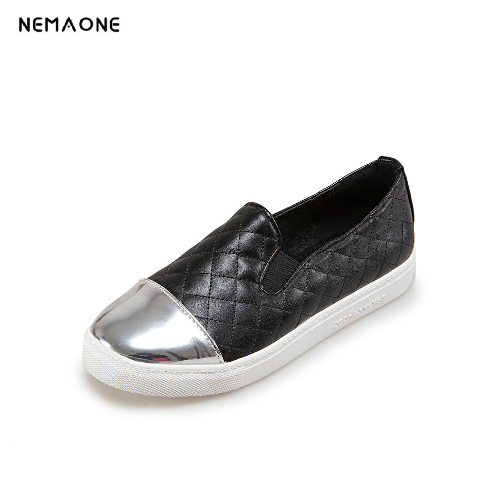 NEMAONE 2018 Women Pumps Western Style Shoes PU Slip on Low Heels Pointed Toe Spring Autumn Casual Ladies Shoes Size 34-43 2017 shoes women med heels tassel slip on women pumps solid round toe high quality loafers preppy style lady casual shoes 17