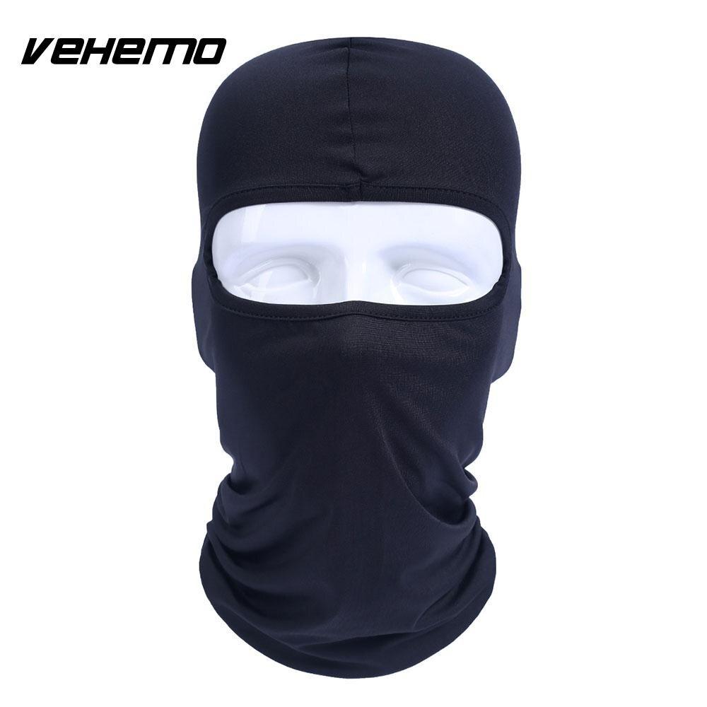 Vehemo аксессуары для улицы полная мотоциклетная маска для защиты лица шапки унисекс 14 цветов Практичная Балаклава лайкра защита удобный - Цвет: black