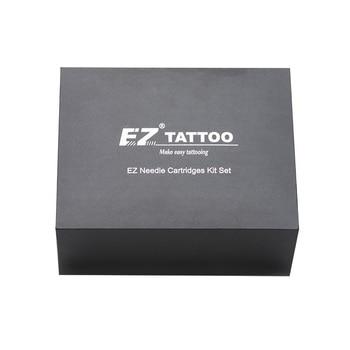 100 Pieces EZ Tattoo Suply EZ Cartridges Tattoo Needle Kit Set  with 4 Black Disposable Tubes /Plunger Bars Tattoo Kits