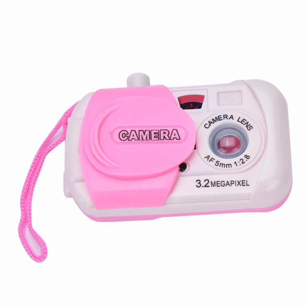 1 ピース子供知育玩具ミニテイク写真おかしい早期学習研究カメラおもちゃ素敵なキャンディーカラーベビーギフト