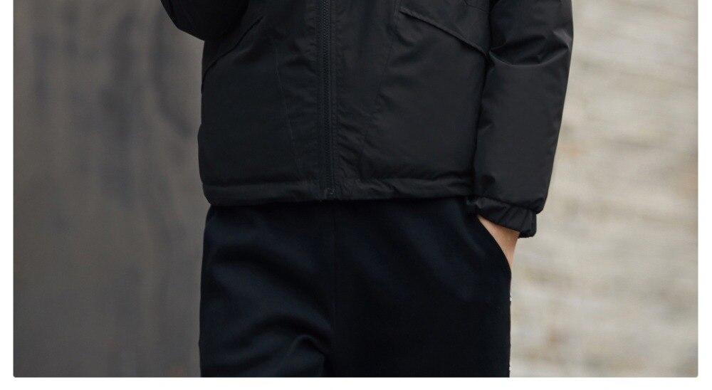 Xiaomi mijia Uleemark men's double-faced down jacket 90% goose down waterproof zipper double-sided wearable waterproof jacket