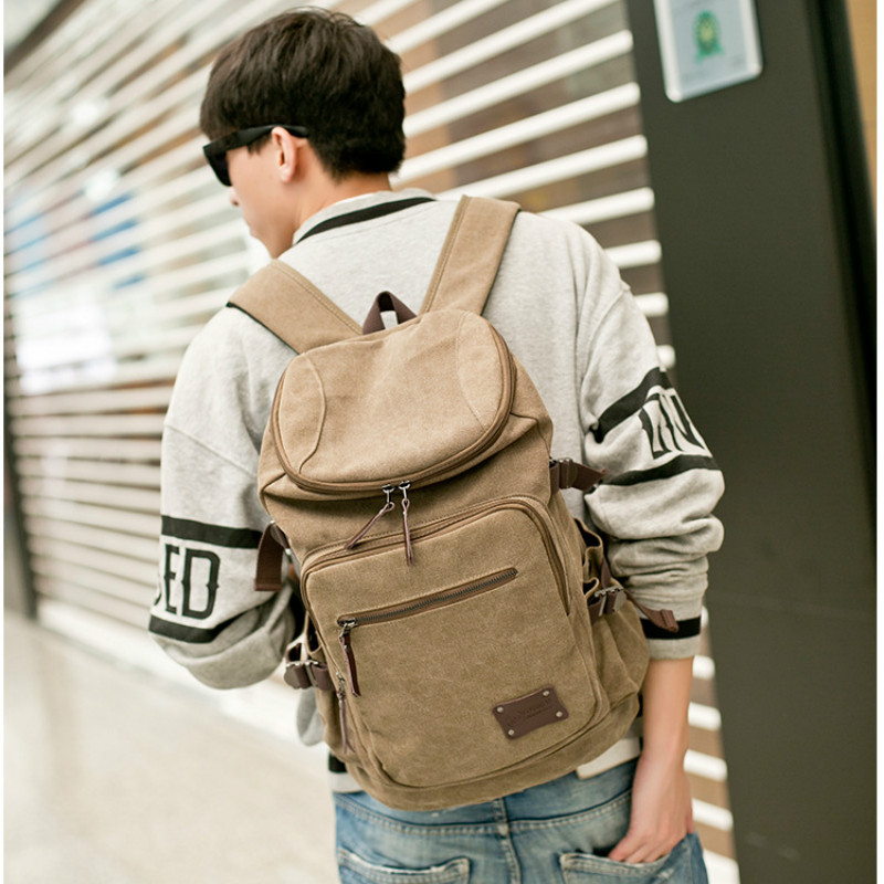 2017 New Brand Man's Canvas Backpack Travel Student Schoolbag Male Men Big Large Capacity Rucksack Shoulder School Bag Mochila